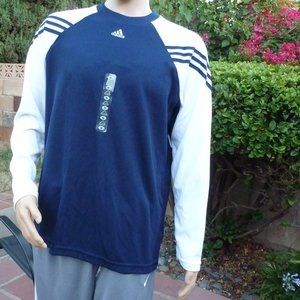 Indigo Adidas Long Sleeve Men's Training Shirt